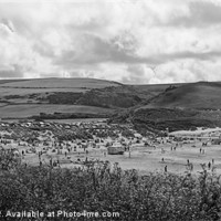 Buy canvas prints of Woolacombe in mono by Joanne Crockford