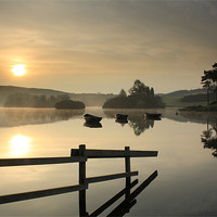 Buy canvas prints of Knapps Loch Sunrise by Maria Gaellman