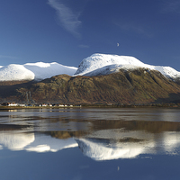 Buy canvas prints of Ben Nevis in Snow by Maria Gaellman