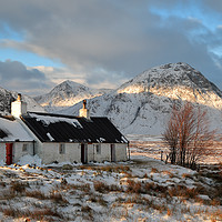 Buy canvas prints of Blackrock Cottage in Winter by Maria Gaellman