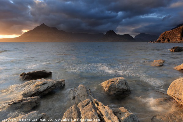 Cuillins at Sunset Canvas print by Maria Gaellman