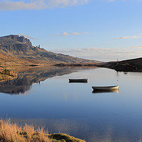 Buy canvas prints of The Storr reflecting in Loch Fada by Maria Gaellman