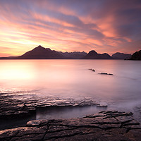 Buy canvas prints of Elgol Sunset by Maria Gaellman