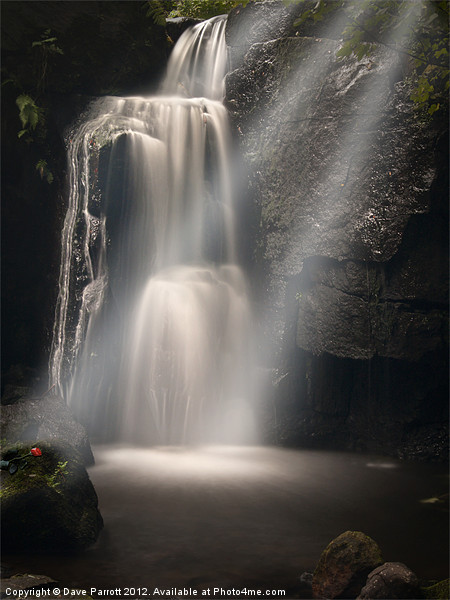 Lumsdale Valley Waterfall - Love Canvas print by Daves Photography