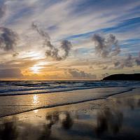 Buy canvas prints of Croyde Bay sunset by lee dawe