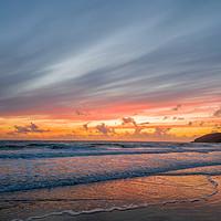 Buy canvas prints of Croyde Beach Sunset by lee dawe