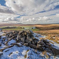 Buy canvas prints of Irishman's Wall, Dartmoor National Park by lee dawe