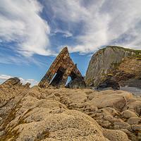 Buy canvas prints of Blackchurch Rock, North Devon by lee dawe