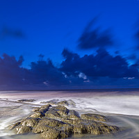 Buy canvas prints of Westward Ho! rocks. by lee dawe