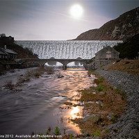 Buy canvas prints of Elan Valley Moonlight by Ian Collins