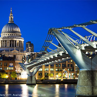 Buy canvas prints of St Pauls Cathedral and the Millennium Bridge by Andrew Berry