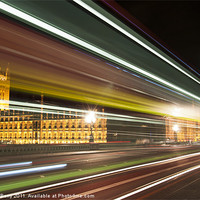 Buy canvas prints of Big Ben and London Bus at Night by Andrew Berry