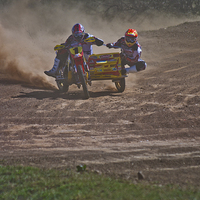 Buy canvas prints of Motorcross sidecar by Canvas prints by Jacovos Jacovou (Travelling Journ