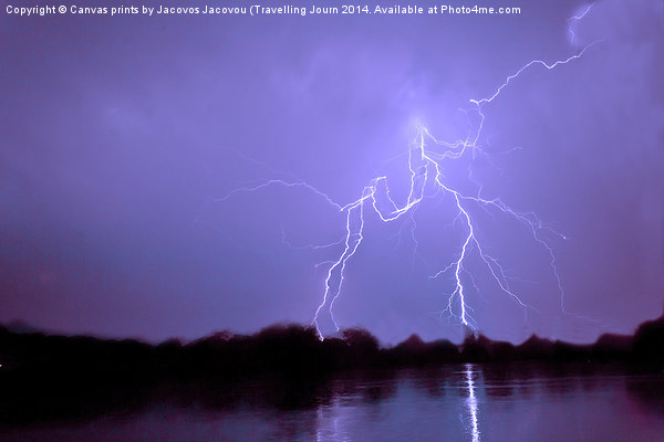 Thunder n Lightning Canvas print by Canvas prints by Jacovos Jacovou (Travelling Journ