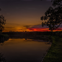 Buy canvas prints of Red and gold sky at night by Jack Jacovou Travellingjour