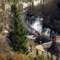 Buy canvas prints of Matlock Bath River View by angela wallace