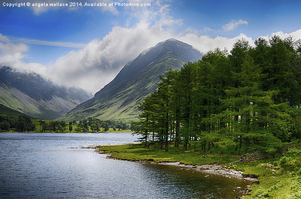 Clouds upon Buttermere Canvas Print by angela wallace