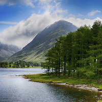 Buy canvas prints of  Clouds upon Buttermere by angela wallace