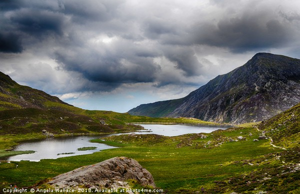 The Lake Cwm Idwal Print by Angela Wallace