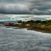 Buy canvas prints of Logger on Lochaline  by Angela Wallace