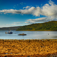 Buy canvas prints of The Sound of Mull                 by Angela Wallace