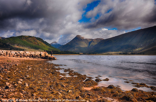 Fishing on Loch Etive             Canvas print by Angela Wallace