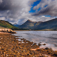 Buy canvas prints of Fishing on Loch Etive             by Angela Wallace