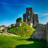 Buy canvas prints of Corfe Castle and gardens                    by Angela Wallace