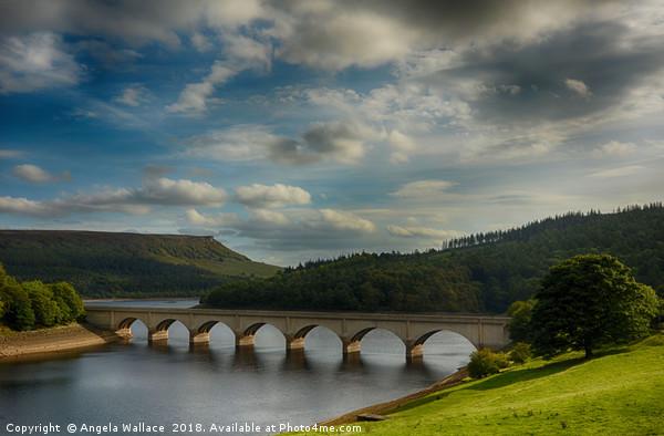Bridge at Ladybower reservoir                  Canvas Print by Angela Wallace