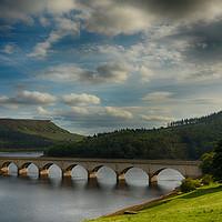 Buy canvas prints of Bridge at Ladybower reservoir                  by Angela Wallace