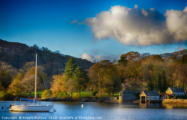 Boat house Lake Windermere            Canvas print by Angela Wallace