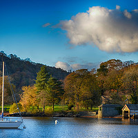 Buy canvas prints of Boat house Lake Windermere            by Angela Wallace