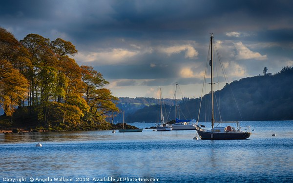 Sail boats on Windermere Canvas print by Angela Wallace