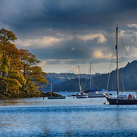 Buy canvas prints of Sail boats on Windermere by Angela Wallace