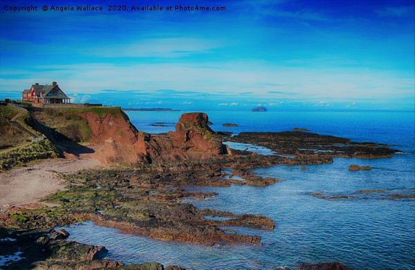 House on Dunbar cliff tops Canvas Print by Angela Wallace