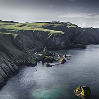 Buy canvas prints of St Abbs dramatic cliffs by Angela Wallace