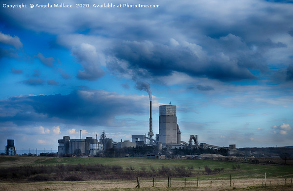 Tarmac cement plant Canvas Print by Angela Wallace