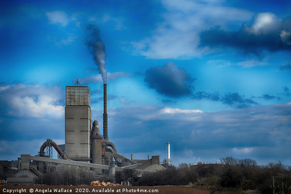 A Working Cement Plant Canvas Print by Angela Wallace