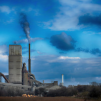Buy canvas prints of A Working Cement Plant by Angela Wallace