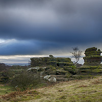 Buy canvas prints of Rock Formations Brimham Rocks by Angela Wallace
