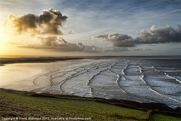 Saunton Sands Sunrise Canvas print by Dave Wilkinson  North Devon Photography