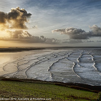 Buy canvas prints of Saunton Sands Sunrise by Dave Wilkinson  North Devon Photography