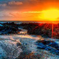 Buy canvas prints of Down End Croyde Bay by Dave Wilkinson  North Devon Photography