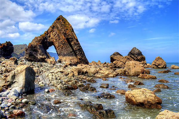 Blackchurch Rock Canvas Print by Dave Wilkinson  North Devon Photography