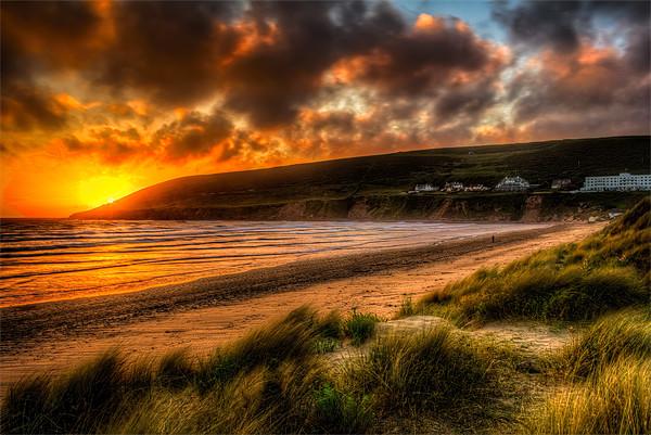 Saunton Sands North Devon Canvas Print by Dave Wilkinson  North Devon Photography
