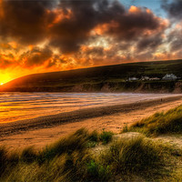 Buy canvas prints of Saunton Sands North Devon by Dave Wilkinson  North Devon Photography