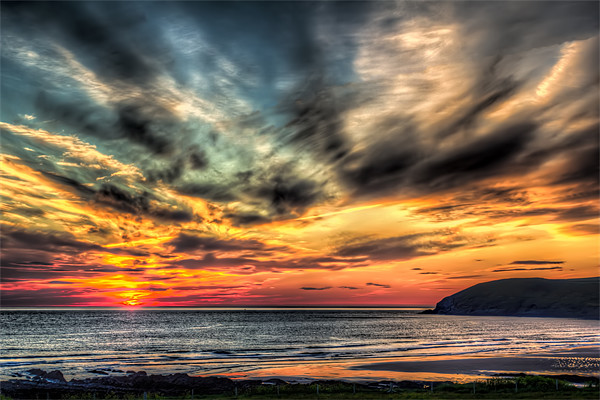 Croyde Bay Sunset Canvas print by Dave Wilkinson  North Devon Photography