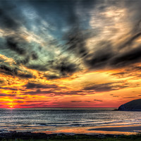 Buy canvas prints of Croyde Bay Sunset by Dave Wilkinson  North Devon Photography
