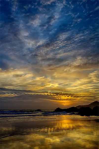 Coombesgate Beach Canvas Print by Dave Wilkinson  North Devon Photography