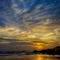 Buy canvas prints of Coombesgate Beach by Dave Wilkinson  North Devon Photography